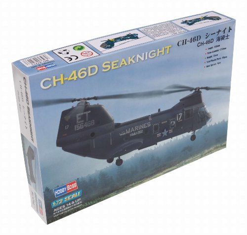 CH-46 Sea Knight Helicopter 1/72 Hobby Boss