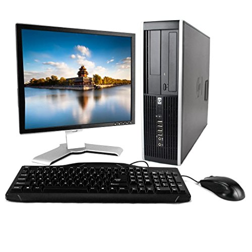 HP 8000 Elite Desktop Intel Core 2 Duo 3.0GHz 4GB Ram 250GB Hard Drive Windows 7 Professional 19″ LCD Monitor, Keyboard, Mouse, and Speakers