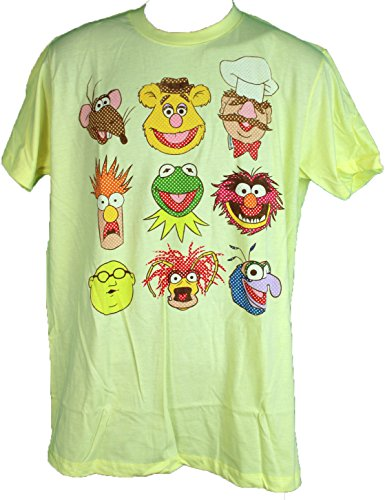 "Disney Mad Engine The Muppets Cast ""Vintage Faces"" Tee Shirt Kermit Animal"
