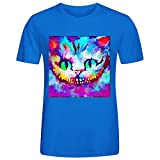 Cheshire Cat Jl9 T Shirt Men Funny Blue Custom All Our T Shirt Are By Handmade. T Shirt Design Funny Cool Sport,Digital Direct Printing,Eco-friendly Ink.