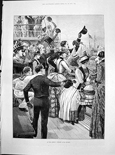 old-original-antique-victorian-print-queens-jubilee-naval-review-victoria-hansom-hop-bitters-trophy-
