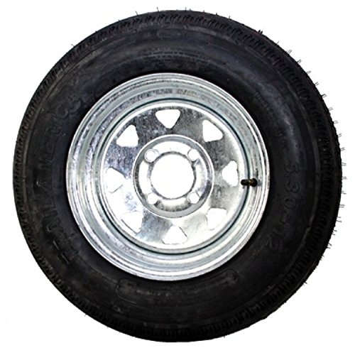 eCustomRim Radial Trailer Tire On Rim ST175//80R13 175//80 R 13 5 Lug Chrome Modular Wheel