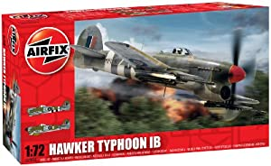 Airfix A02041 Hawker Typhoon Building Kit, 1:72 Scale from Airfix