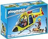 Playmobil - 5428 - Figurine - Hélicoptère De Secours En Montagne