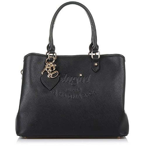 BORSA BLUGIRL LARGE DOUBLE HANDLE BLACK 005