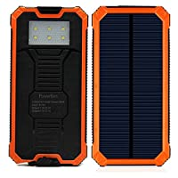 Solar Charger with 6LED Flashlight 15000...