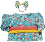 夢の子コレクション29浴衣なでしこ柄水色P-101