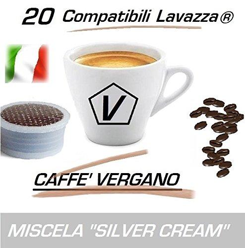 "Capsules Compatible Lavazza Espresso Point®, Capsules de Caffè Vergano Mélange ""Silver Cream"" Ligne Espresso - Le Vrai Café Italien (Kit Dégustation 20 Capsules)"
