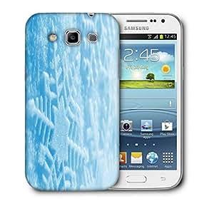 Snoogg Blue Xmas Printed Protective Phone Back Case Cover For Samsung Galaxy Samsung Galaxy Win I8550 / S IIIIII