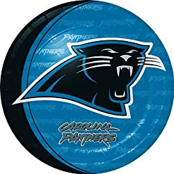 Carolina Panthers Dinner Plates (8) Party Supplies