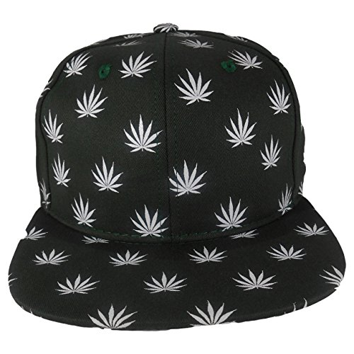 Cap2Shoes-Mens-Marijuana-Weed-Leaf-Snapback-One-Size-Green