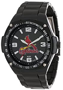 Game Time Unisex MLB-WAR-STL Warrior St. Louis Cardinals Analog 3-Hand Watch by Game Time