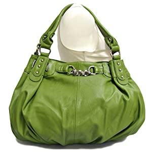 Large Faux Leather Slouchy Hobo Handbag
