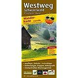 Wanderkarte Westweg Schwarzwald, Pforzheim - Basel: Mit Ausflugszielen, Einkehr- & Freizeittipps, wetterfest, reissfest, abwischbar, GPS-genau. 1:50000