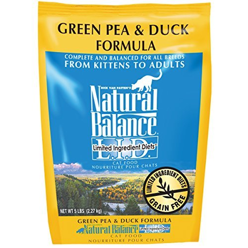 Natural Balance L.I.D. Limited Ingredient Diets Green Pea & Duck Formula Dry Cat Food, 5-Pound by Natural Balance (Natural Balance Green Pea Duck compare prices)