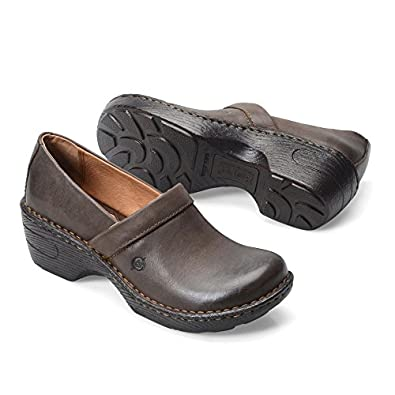 Born Womens Toby II Clog Brown Size 6