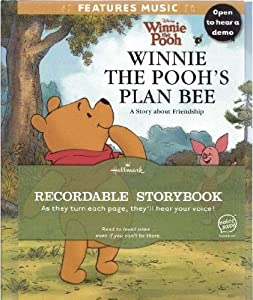 HALLMARK RECORDABLE STORY BOOK WINNIE THE POOH PLAN BEE DISNEY PIXAR