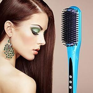 Euph Nano Fer à lisser - Professional Anion Cheveux Lisseur en céramique - chauffage rapide - Anti-échaudage et Anti-statique( Bleu )