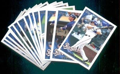 2010 American League Champs! 2010 Topps Baseball Cards Complete TEAM SET: Texas Rangers (Series 1 & 2) 27 Cards including Borbon, Holland, Young, Blalock, Francisco, Vizquel, Josh Hamilton & more!