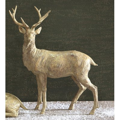 Twelve Days of Christmas Resin Standing Deer Statue
