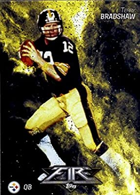 2014 Topps FIRE Football Card #90 Terry Bradshaw - Pittsburgh Steelers MINT