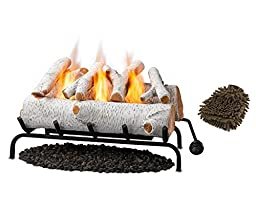 Real Flame 24 Convert-to-gel Log Set, Birch (Complete Set) w/ Bonus: Premium Microfiber Cleaner Bundle