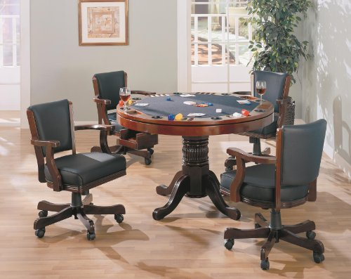 Norwitch 3-In-1 Oak Game Table Set Cherry front-5965