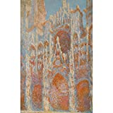 Art Panel - The Rouen Cathedral - The facade at sunset by Monet