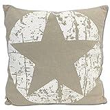 JEMIDI Deko Kissen Sterne gefüllt 45cm x 45cm Sofakissen Stern Weihnachten Zierkissen Couchkissen Stern Grau - 5