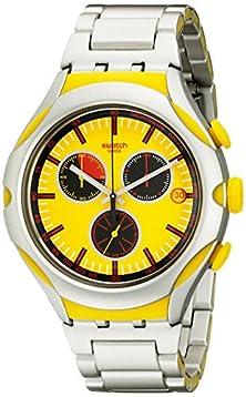 buy Swatch Men'S Yys4002Ag Irony Analog Display Swiss Quartz Silver Watch