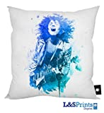 MARC BOLAN BLUE WATER COLOUR DESIGN PRINTED CUSHION 18