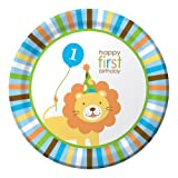 Creative Converting -Sweet 1st Birthday Boy Plates (Lunch)