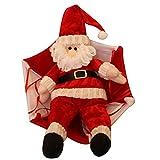 YideaHomeサンタクロース パラシュート 飾り 人形 子供 プレゼント パーティー かわいい クリスマス