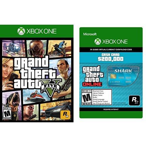 Grand Theft Auto V - Xbox One + Grand Theft Auto V - Tiger Shark Cash Card - Xbox One [Digital Code] bundle
