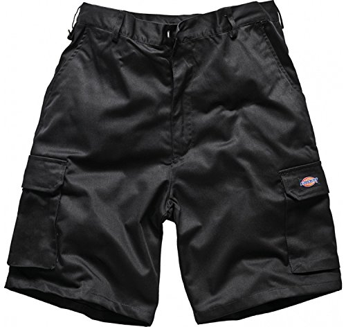 dickies-redhawk-mens-cargo-style-shorts-branded-workwear-casual-side-pockets-back-pockets-black-36