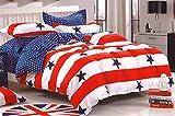 WRAP 100% COTTON DOUBLE BED DUVET SET (1 BEDSHEET 2 PILLOW COVERS & 1 DUVET COVER) CNSD-16