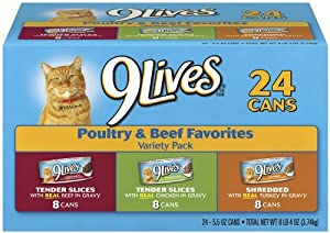 9Lives Poultry and Beef Variety Pack (48-Count)