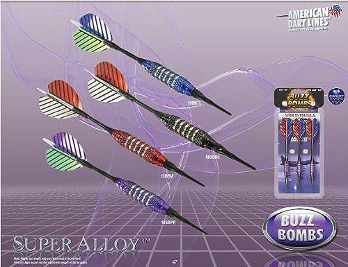 [해외] BOTTELSEN 인기 모델 BUZZ BOMBS 18g 18BBTL블루 SuperAlloy초합성피혁금 사양 【SP】【소프트 다트】【반스bomb】