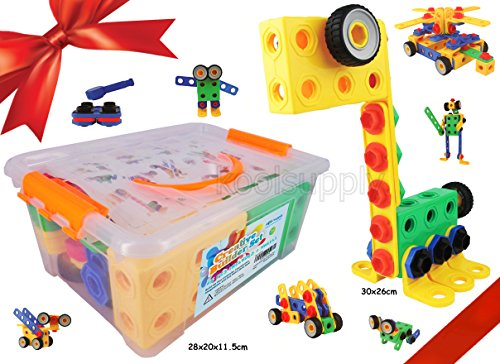 Creative Builder Set – 90 Pieces Building Blocks Toys for Boys and Girls from koolsupply. For 3, 4 and 5+ Year Old Boys & Girls. Fun and STEM Learning Support