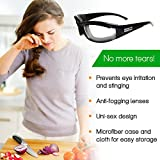 Professional Onion Goggles | Stinging, Irritation and Tear Free Vegetable Cutting, Black Glasses by Kitchen Boulevard