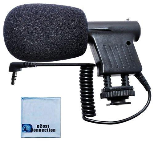 Professional Mini Condenser Camcorder Microphone + Microfiber Cloth For Hdr-Pj430V, Hdr-Pj650, Hdr-Pj790, Hdr-Cx360V, Hdr-Cx560V, Hdr-Cx580V, Hdr-Cx700V, Hdr-Cx760, Hdr-Pj10, Hdr-Pj30E, Hdr-Pj50V, Hdr-Pj790V, Hdr-Td10, Hdr-Cx430V, Hdr-Td30V & More