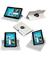 Etui Luxe Blanc Rotatif pour Samsung Galaxy Tab 3 10.1 P5210 P5220 + STYLET et FILM OFFERTS !