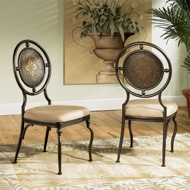 black friday powell basil antique brown dining side chair with 2 piece