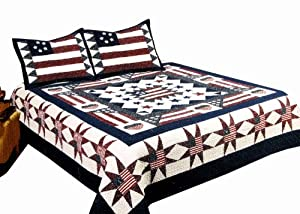 American Hometex Great America 100 Percent Cotton Quilt Set King