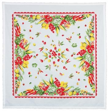 Retro Garden of Veggies Tablecloth