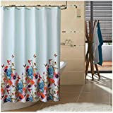 Eforgift Garden theme Fabric Shower Curtain Waterproof, Heavy Duty Bathroom Curtain, 72-Inch by 78-Inch, Colorful