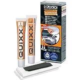 Quixx 00051 Repair-System, 1 Gebrauchsanweisung, 2 Poliertücher, 4 Schleifpapiere, 2 Tuben á 25g