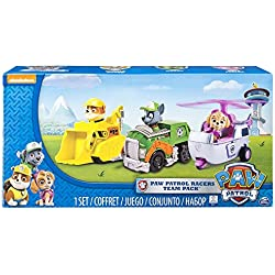 Paw Patrol Racers 3-Pack Vehicle Set, Rubble/Rocky/Skye