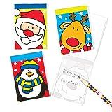 Blocs de notas con imágenes de personajes navideños perfectos como regalo para niños (pack de 8)