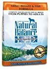 Natural Balance Dry Dog Food, Grain Free Limited Ingredient Diet Fish and Sweet Potato Recipe, 28…